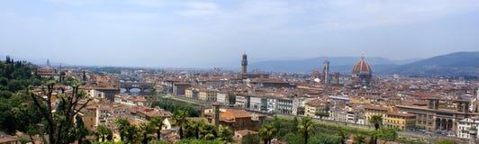 Het panoramamening van Florence - Italië stock afbeelding