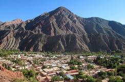 Het panoramamening van het Humahuacadorp stock foto's
