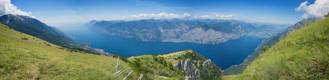 Het panoramamening van Montebaldo, Italië Stock Afbeelding