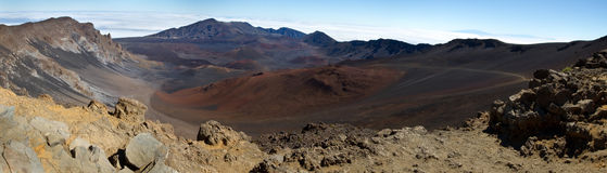 Het Panoramische Beeld van de Top van Haleakala Stock Foto's