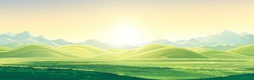 Het panoramische landschap van de berg stock illustratie