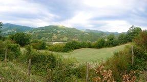 Het panoramische landschap van het land royalty-vrije stock afbeeldingen