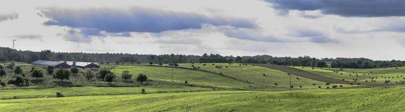 Het panoramische landschap van Ohio stock foto