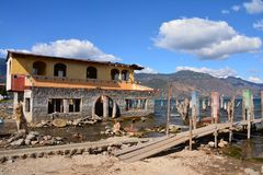 Het panoramische Meer Guatemala van Landschappenatitlan royalty-vrije stock foto