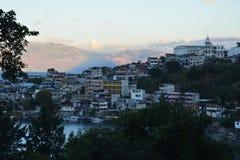 Het panoramische Meer Guatemala van Landschappenatitlan stock afbeelding