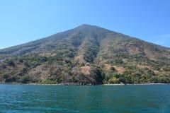 Het panoramische Meer Guatemala van Landschappenatitlan stock fotografie