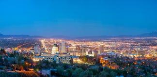 Het panoramische overzicht van Salt Lake City Royalty-vrije Stock Afbeelding