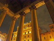 Het Pantheon bij Nacht Stock Afbeelding