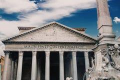 Het Pantheon, door Marcus Agrippa wordt opgedragen dat stock afbeelding
