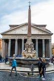 Het Pantheon, een vroegere Roman tempel in Rome, Itali? royalty-vrije stock fotografie