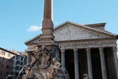 Het Pantheon in Rome stock foto's