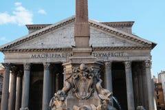 Het Pantheon in Rome stock afbeeldingen