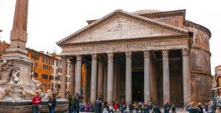 Het Pantheon in Rome - de oudste katholieke kerk in de stad royalty-vrije stock foto