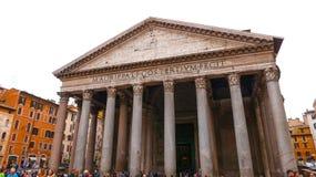 Het Pantheon in Rome - de oudste katholieke kerk in de stad stock fotografie