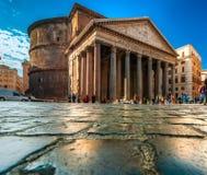 Het Pantheon, Rome, Italië. Stock Foto's