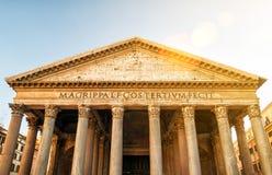 Het pantheon in Rome, Italië Stock Foto
