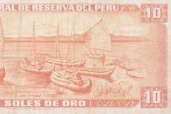 Het papiergeld van Peru Stock Afbeeldingen