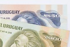 Het papiergeld van Uruguay Stock Afbeeldingen
