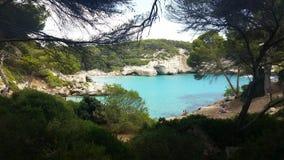 Het paradijs in Cala Mitjana Royalty-vrije Stock Afbeeldingen