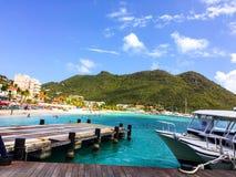Het paradijs de Caraïben leeft Stock Foto