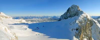 Het paradijs van Alpinesky Stock Foto