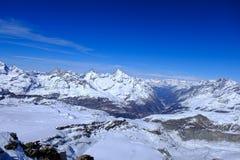 Het Paradijs van de Matterhorngletsjer, Zwitserland Royalty-vrije Stock Afbeeldingen