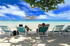 het paradijseiland in trang Thailand Royalty-vrije Stock Afbeeldingen