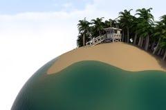 Het paradijsplaneet van Surfers Stock Foto's