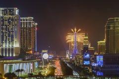 Het Parijse Vuurwerk van Macao Royalty-vrije Stock Afbeeldingen