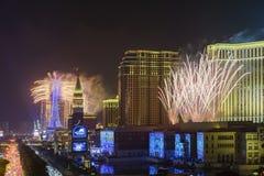 Het Parijse Vuurwerk van Macao Stock Foto
