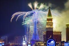Het Parijse Vuurwerk van Macao Royalty-vrije Stock Foto's