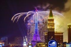 Het Parijse Vuurwerk van Macao Royalty-vrije Stock Afbeelding