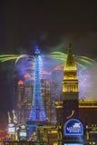 Het Parijse Vuurwerk van Macao Stock Afbeeldingen