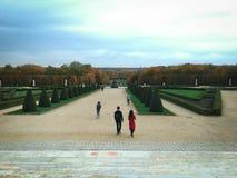 Het park achter het paleis Stock Foto's