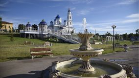 Het park en de fontein van Rusland Kazan Chistopol royalty-vrije stock afbeeldingen
