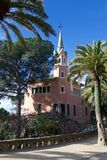 Het Park Guel van Barcelona, Spanje royalty-vrije stock afbeeldingen