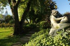Het park met een wijngaard stock afbeeldingen