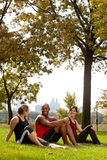 Het park ontspant royalty-vrije stock foto