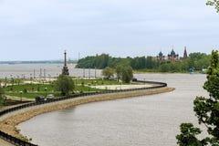 Het park op het Spit, Yaroslavl Royalty-vrije Stock Afbeeldingen