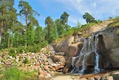 Het park Sapokka van het landschap in Kotka, Finland Stock Fotografie