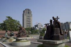 Het Park Taichung Taiwan van het Fenglebeeldhouwwerk stock afbeelding