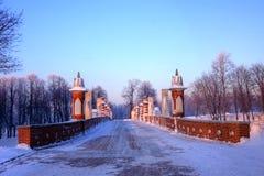 Het park Tsaritsyno van Moskou in de winter royalty-vrije stock fotografie