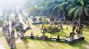 Het park van Boedha Toeristische attractie en openbaar park in Vientiane Laos stock foto's