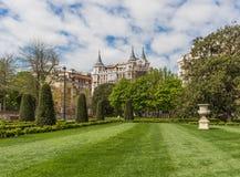 Het park van Buen Retiro, Madrid, Spanje stock foto's