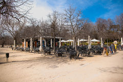 Het Park van Buen Retiro in Madrid Spanje Stock Fotografie