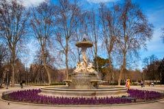 Het Park van Buen Retiro in Madrid Spanje Stock Foto's