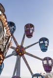 Het park van Carnaval van het carrouselwiel Stock Afbeeldingen