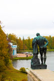 Het park van Catherine ` s in Tsarskoe Selo stock afbeeldingen