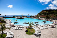 Het park van Cesar van Maritimo in Kerstman Cruz. Tenerife royalty-vrije stock fotografie