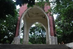 Het Park van de Bahadursjah, vroeger als Victoria Park wordt, is een park in Oude Dhaka, Bangladesh wordt gevestigd bekend dat stock foto